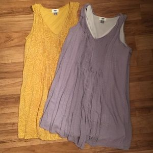 Yellow and purple summer dresses